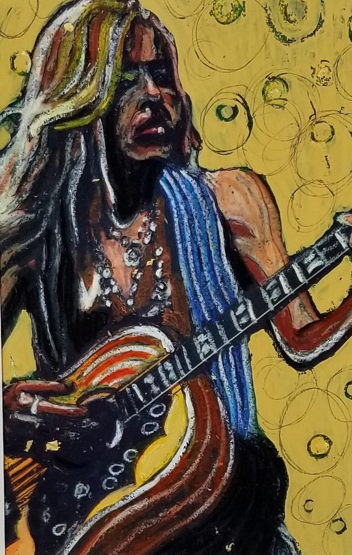 """""""Rock Musician"""" ( Contrast to Background); (DETAIL)"""