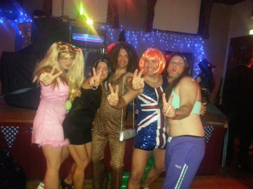 Spice Girls at Christmas Party 2014