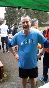 Dave Woodhouse on the day of his 50th parkrun @ Clair Park