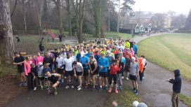 On the start line @ Clair parkrun
