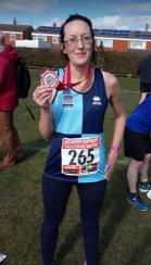 Jill at the Eastbourne Half