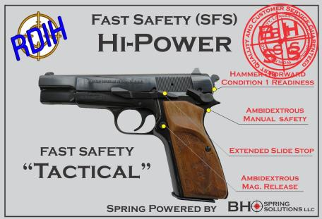 """Fast Safety (SFS v2.0) """"Tactical"""" for Hi-Power and BHSpring Kit"""