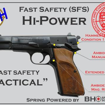 "Fast Safety (SFS v2.0) ""Tactical"" for Hi-Power and BHSpring Kit"