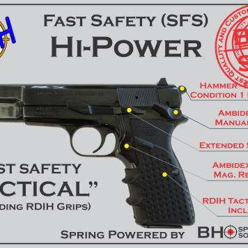 """Fast Safety (SFS v2.0) """"Tactical"""" for Hi-Power, BHSprings Kit and RDIH Tactical Grips"""