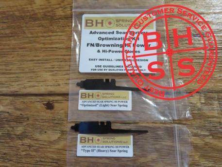 BHSpringSolutions LLC Advanced Sear Springs for FN/Browning Hi Power and Hi Power Clones