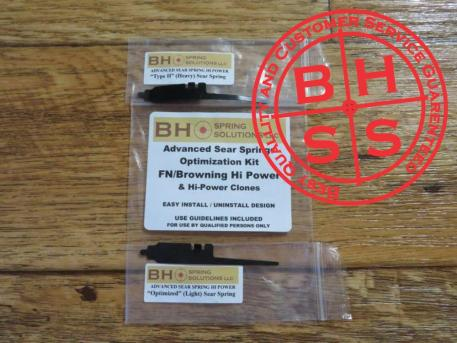 BHSpringSolutions LLC Advanced Sear Springs for FN/Browning Hi Power and Hi Power Clones