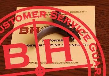 C&S Wide Combat Trigger with BHSS Trigger Optimizing springs