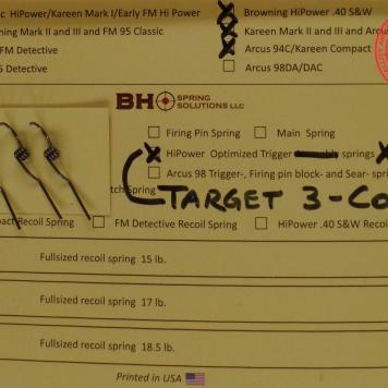 3 Coil Trigger Return Springs 3Pack