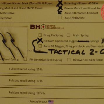 2 Coil Trigger Return Springs 3Pack