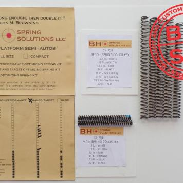 Range/Defense Recoil/Main Springs Kit for CZ75/B/BD and clones