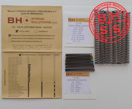 High Performance Complete Spring Kit for CZ75/B/BD and clones