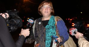 BEA President Fran Brock addresses the media after reaching a tentative agreement with the Burlington School Board in October, 2016. | Photo: Alexandre Silberman/Register