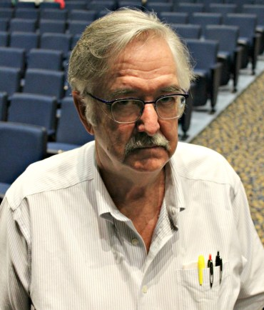 BHS Social Studies teacher Ron MacNeil proctors the study hall of over 70 students. | Photo: Alexandre Silberman/Register