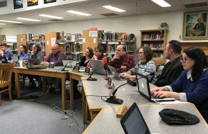 Burlington School Board members voted to adopt a $7M budget for FY18 and put forth a deferred maintenance bond, during a meeting at Hunt Middle School on Jan. 10.