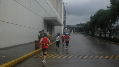 Running around SM Fairview compound