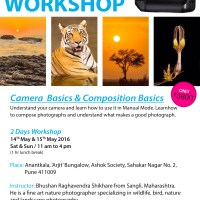Basic Photography Workshop, In Pune, 14th and 15th May 2016