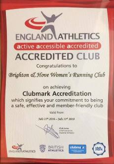 Clubmark Accreditation Certificate