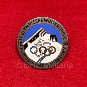 Visitor Badge Olympic Winter Games 1936