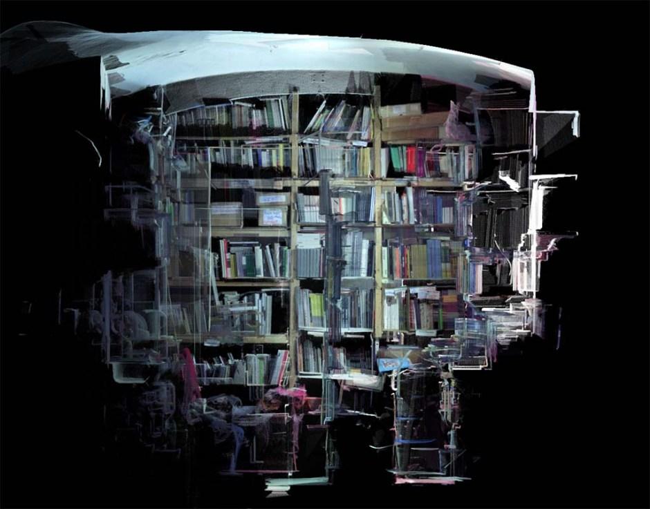 """Bernhard Cella, """"Salon für Kunstbuch Mondscheingasse - Archive"""", Viyana, 2016."""