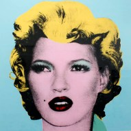 "Banksy, Kate Moss (The Original Colourway), 2005. Screen print on paper, 20"" x 20"". Courtesy Gormleys Fine Art."