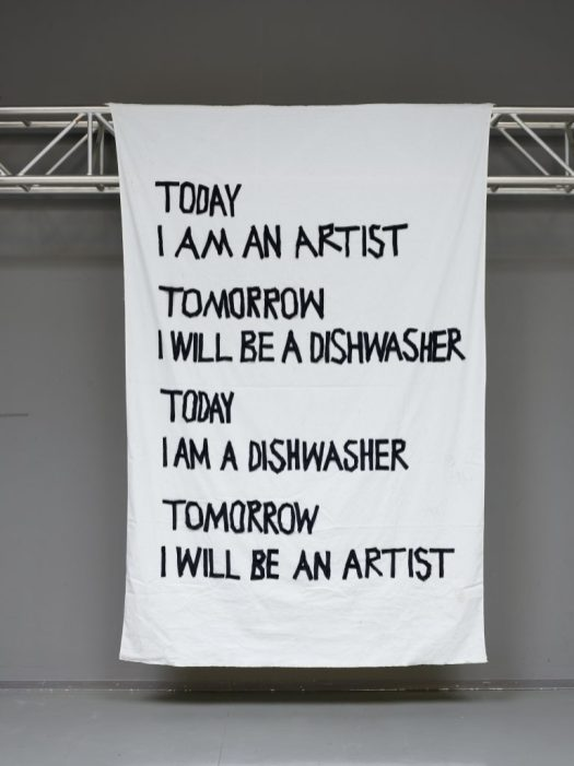 "Kavachi, ""Today I Am an Artist Tomorrow I Will Be a Dishwasher Today I Am a Dishwasher Tomorrow I Will Be an Artist"", 2018"