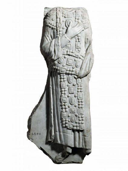 İmparator Betimli Kabartma Parçası 11. yüzyıl Mermer 73 x 31 x 10 cm Env. No. 4207 T İstanbul Arkeoloji Müzeleri İstanbul, Türkiye