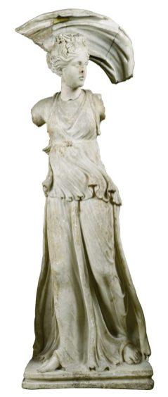 Silahtarağa Çeşmesi (Selena heykeli ?) 2. yüzyıl Mermer 156 x 56 x 50 cm Env. No. 5061 T + 5064 T İstanbul Arkeoloji Müzeleri İstanbul, Türkiye