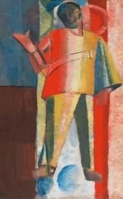 Alexei Morgunov (1884-1935), Ayakta Duran Adam (Havacı), 1912-1913, Tuval üstüne yağlıboya, 71,2 × 44,3 cm, Devlet Çağdaş Sanat Müzesi, Costakis Koleksiyonu, 158.78-58
