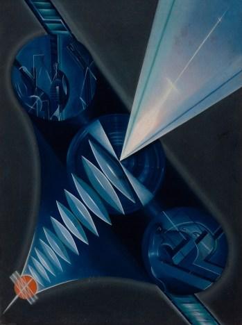 Kliment Redko (1897-1956), Dinamit, 1922, Tuval ustune yağlıboya, 62,6 × 47,6 cm, Devlet Çağdaş Sanat Müzesi, Costakis Koleksiyonu, 236.78-184