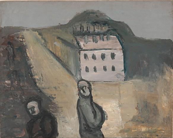 Alexander Drevin (1889-1938), İki Figürlü Manzara, 1930, Tuval ustune yağlıboya, 84,8 × 68,5 cm, Devlet Çağdaş Sanat Müzesi, Costakis Koleksiyonu, 10.78 - 52