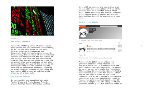 36. Sayfa, Technological Arts Preservation