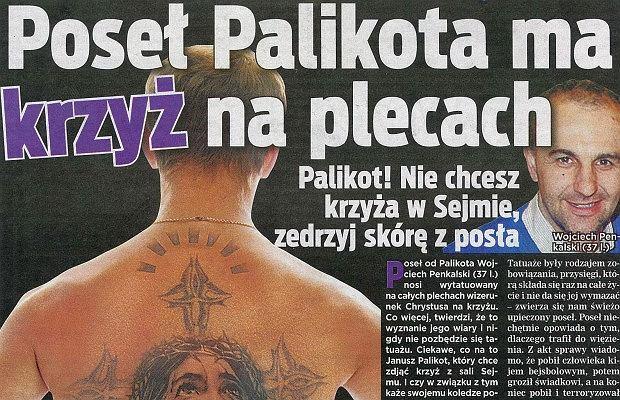 Pose Ruchu Palikota ma na plecach krzy Jest godnym