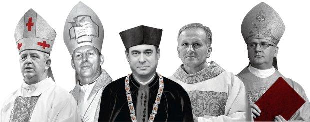 Od lewej: Bp Jan Piotrowski, Bp Piotr Turzyński, Bp Marek Marczak, Bp Łukasz Buzun, Abp Józef Górzyński