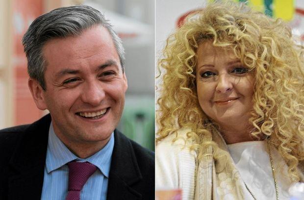 Robert Biedroń i Magda Gessler