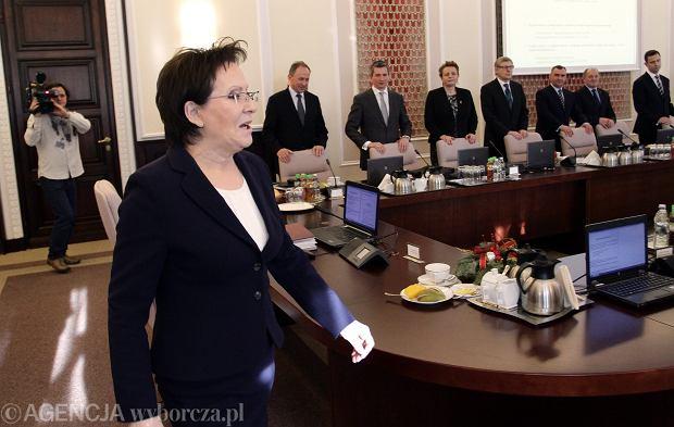 Ewa Kopacz na posiedzeniu rządu, 30.12.2014