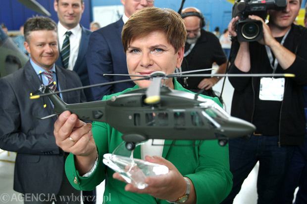 Beata Szydło podczas wizyty w Świdniku