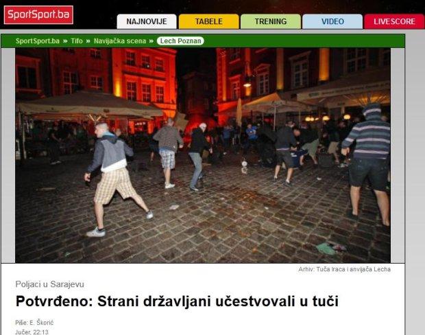 FK Sarajevo - Lech Poznań. Nocna zadyma w stolicy Bośni