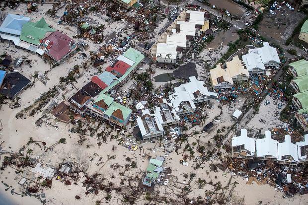 Wyspa Saint Maarten po przejściu Irmy.