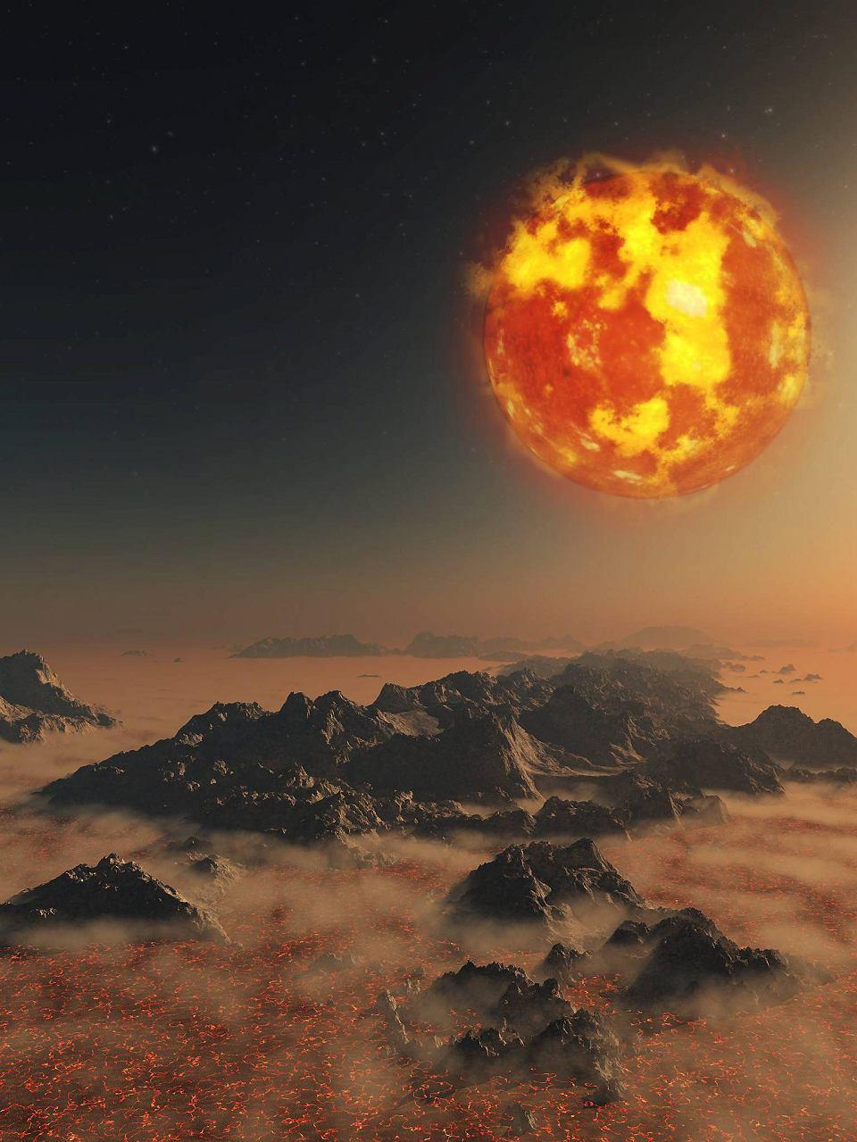 Słońce także stanie się kiedyś czerwonym olbrzymem. Być może pochłonie wtedy Ziemię