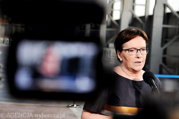 Prezes Rady Ministrów Ewa Kopacz w Krakowie