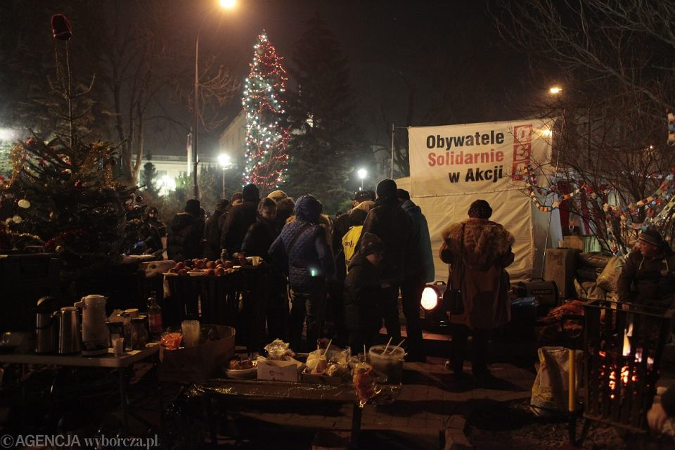 Grudniowy protest obywatelski pod Sejmem