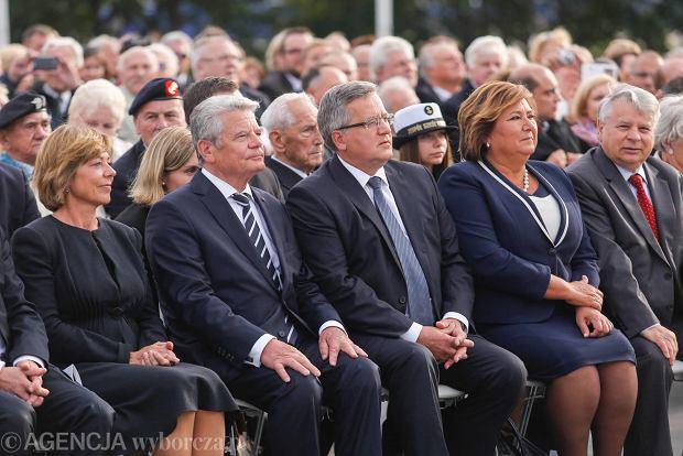 Prezydenci Niemiec i Polski podczas obchodów 75. rocznicy wybuchu II wojny światowej. Gdańsk, Westerplatte, 1.09.2014 r.