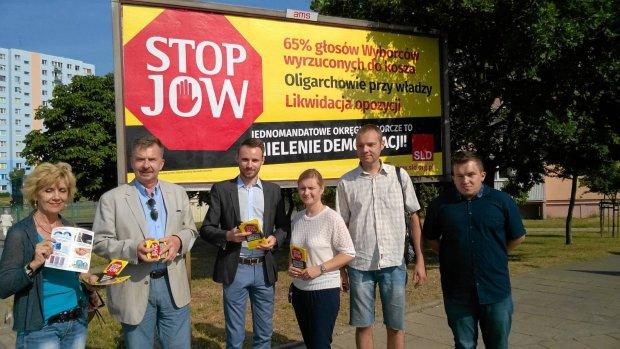 Działacze SLD rozpoczęli kampanię przeciwko JOW na prawobrzeżu Szczecina
