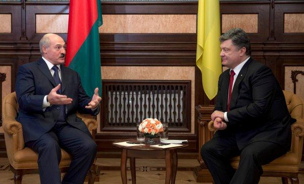 Aleksander Łukaszenka i Petro Poroszenko podczas spotkania w Kijowie