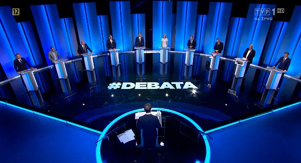 Debata kandydatów na prezydenta w TVP