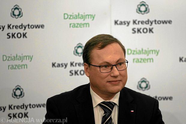 Senator PiS Grzegorz Bierecki, były szef Krajowej SKOK