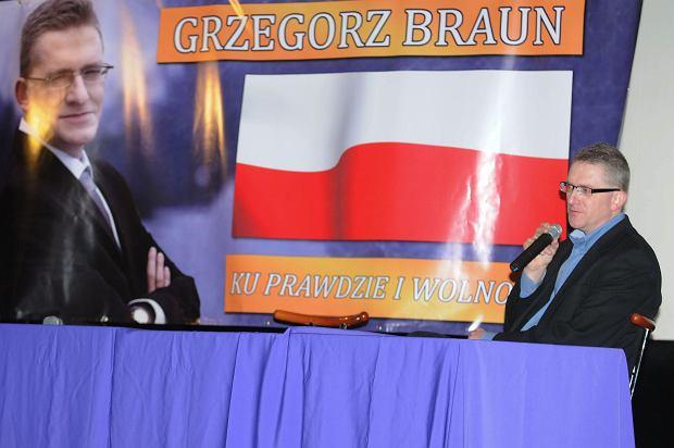Grzegorz Braun w kinie Newa w Zielonej Górze
