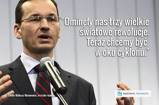 Minister Morawiecki przedstawia swój wielkie plan gospodarczy dla Polski