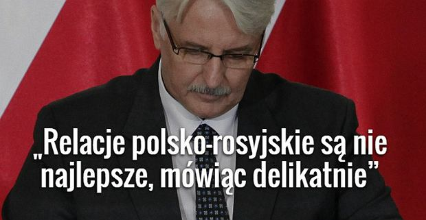 Witold Waszczykowski, Minister Spraw Zagranicznych