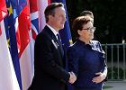 Premier David Cameron w Polsce